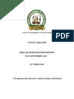 2014/2015 1st Quarter Progress Report