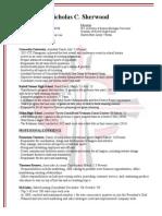 nick sherwood 2015 resume