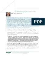 Framework for Managing IT Risk