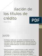 25633319465654erf546a4 Cancelacion de Los Titulos de Credito