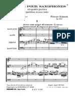 Schmitt - Saxophone Quartet Op. 102 Score