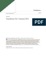 Transference Vol. 1 Summer 2013