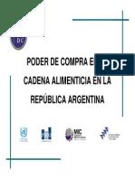 Poder de Compra de La Cadena Alimenticia Argentina