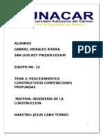 Tema 3 Procedimiento Constructivo Cimentaciones Profundas