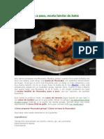 Mousaka - Lasaña de Berenjenas-receta Mas Popular