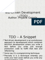 Test Driven Development – (TDD)