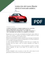 Arrancó La Producción Del Nuevo Mazda MX