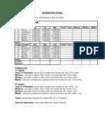 Exercício Excel