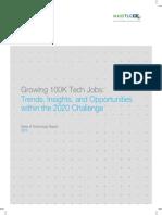 Growing 100K Tech Jobs