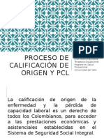 Proceso de Calificacion de Origen y Perdidad De
