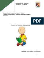 Factores Que Dificultan El Aprendizaje