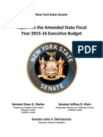 Details of the Senate's 2015-16 budget proposal