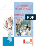 Prevencion Accidentes en Centros Escolares 2015 ..