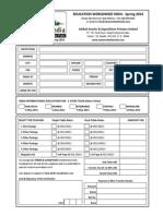 Bookingform Format