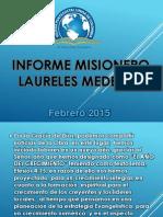 Informe Misionero Laureles Medellin Feb 2015