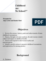 nursing 450 - final group project mandatory childhood immunizations