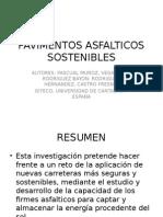 PAVIMENTOS ASFALTICOS SOSTENIBLES