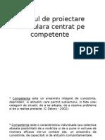 Modelul de Proiectare Curriculara Centrat Pe Competente