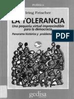 Limites de La Tolerancia-Tolerancia Para Con Los Intolerantes
