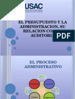 El Presupuesto y La Administracion, Su Relacion