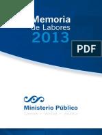 Memoria de Labores 2013 MP