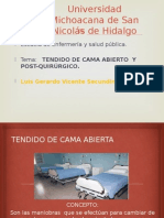 Fundamental-tendido de Cama enfermeria