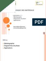 Méttalographie (Physique des matériaux)