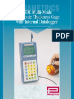 Panametrics 25DL Multi-Mode Ultrasonic Thickness Gage with Internal Datalogger