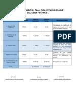Presupuesto Para Un Plan Publicitario on-line