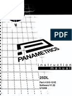 Panametrics 25DL Instruction Manual