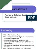 Materials Management II