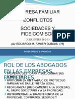 Empresa Familiar. Conflictos. Sociedades y Fideicomisos. Corrientes. 28-2-15