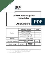 Tecnologia de Materiales INFORME 1