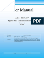User Manual for ZigBee Module[SZ05-ADV] V1.1