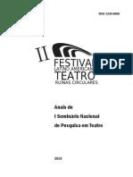Anais do I Seminário de Teatro (UFU-2010)