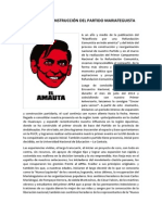 Hacia La Reconstrucción Del Partido Mariateguista.
