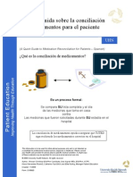 A Quick Guide to Medication Reconciliation for Patients Spanish