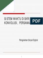 PSD-SISTEM WAKTU DISKRIT, KONVOLUSI, PERSAMAAN BEDA.pdf
