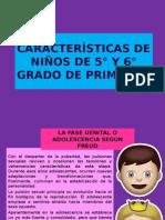CARACTERÍSTICAS DE NIÑOS DE 5° Y 6