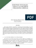 Dimensiones Sociales de La Vida y La Muerte en La Tragedia Griega