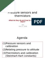 Lecture PressureSensorThermistors