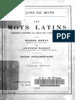 Michel Breal Les Mots Lains