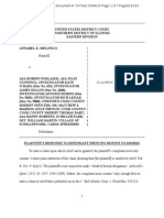 3/4/15 plaintiff response to defendant Kyle French's motion to dismiss