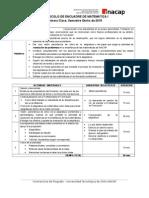 Protocolo Encuadre Matemática 2015