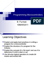 Lecture Programming Microcontrollers