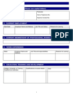 Cas Sample Application Form