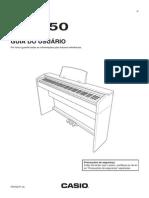 Manual Piano Casio PX750_PT