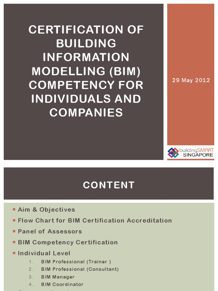 Certification Of Bim Competency For Individuals And Companies In