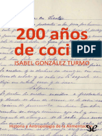 200 Anos de Cocina - Gonzalez Turmo, Isabel