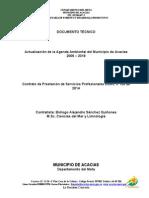 Actualizacion Agenda Ambiental Acacias Septiembre Formato Alcaldia